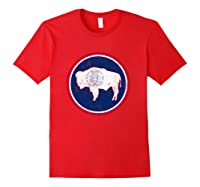 Wing State Flag Patriotic Shirts Red