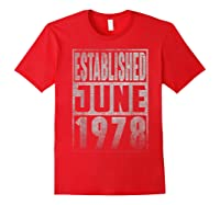 Established Since June 1978 Straight Outta Aged 41 Years Old Shirts Red
