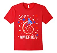 Festive 4th Of July, Independence Day Design Shirts Red