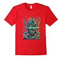 Flat Earth Monster Shirts Red