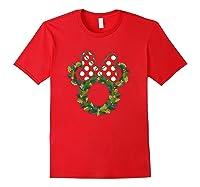 Disney Minnie Wreath T Shirt Red