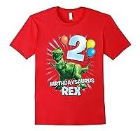 Disney Pixar Toy Story Birthdaysaurus Rex 2nd Birthday T-shirt Red