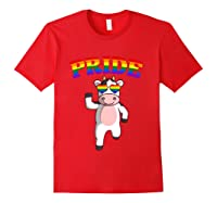 Lgbt Cow Gay Pride Rainbow Lgbtq Cute T-shirt Red