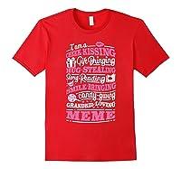 M Gift Bringing Story Reading Meme Mom Grandma Shirts Red