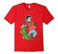 Disney Maxie Skateboard T Shirt Red