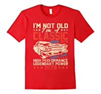 Vintage 40th Birthday I'm Not Old I'm Classic 1979 Car Shirts Red