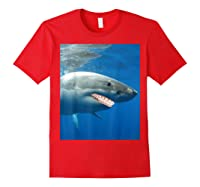 Great Shark With Braces And Human Th Shirts Red