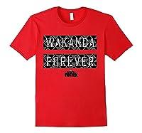 Black Panther Wakanda Forever Pattern Shirts Red