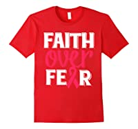 Faith Over R Breast Cancer Awareness Gift Shirts Red