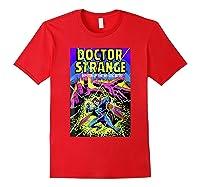 Doctor Strange Mystic Arts Neon Graphic Shirts Red