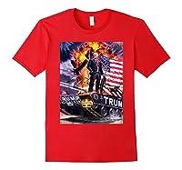 Donald Trump Gold Plated Shirt T-shirt Red