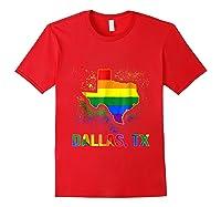 Dallas Texas Lgbt Pride Shirt Red