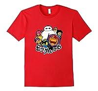 Disney Big Hero 6 Team Of Superheroes Chibi T-shirt Red