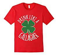 Gllgher St Patrick's Day Beer Irish Shirts Red