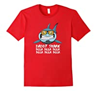 Daddy Shark Shirt Fathers Day Gift Idea For Dad Husband Beer Pullover Red