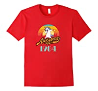 Awesome Since 1984 Year Of Birth Birthday Gift Shirts Red