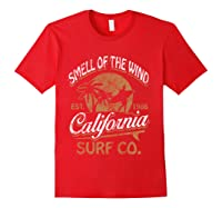 Retro Surf Shirt California Surfer Gift Cali Red