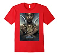 Black Panther Avengers Nakia Poster Graphic Shirts Red
