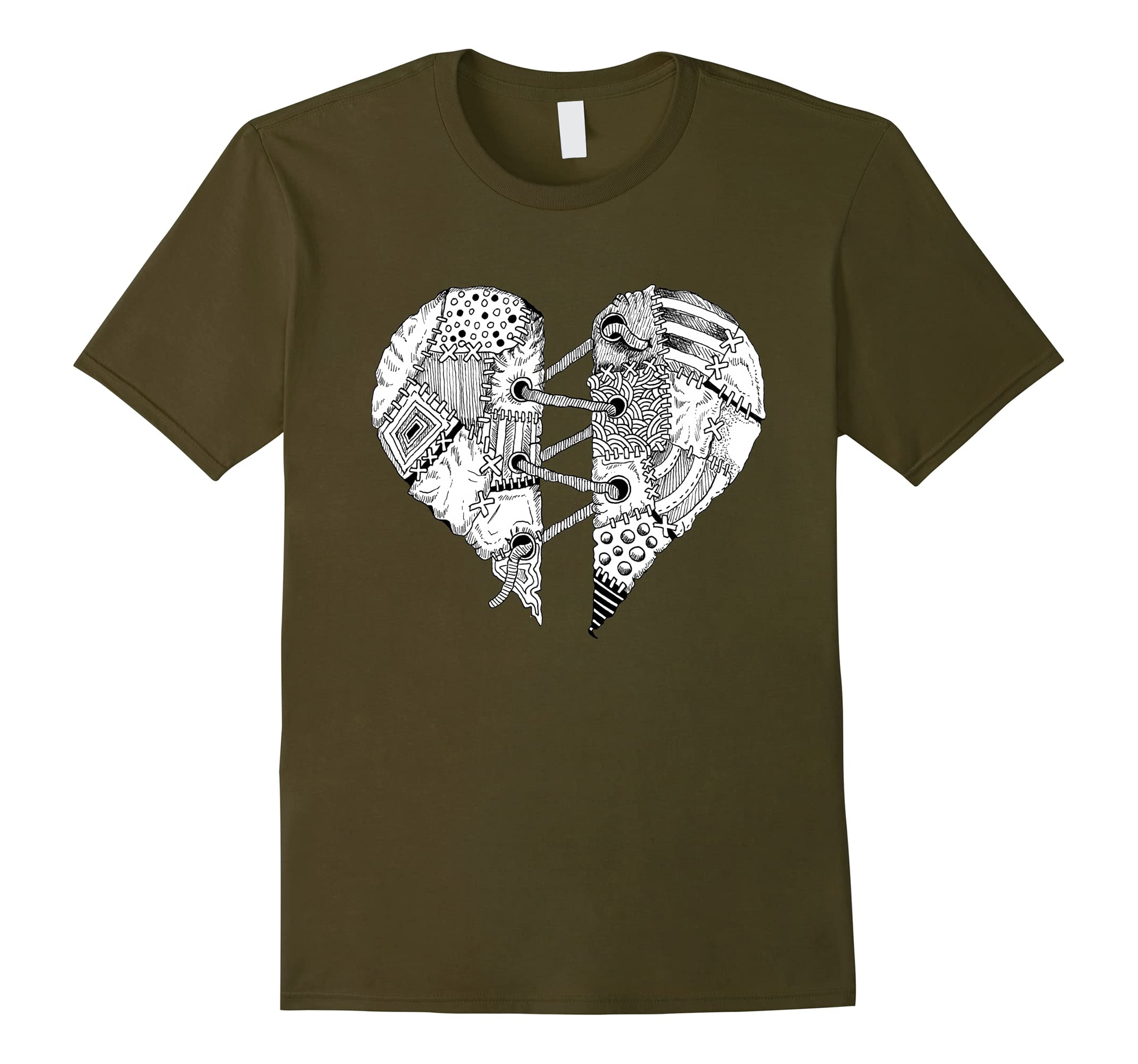 patchwork heart tattoo design rt rateeshirt. Black Bedroom Furniture Sets. Home Design Ideas