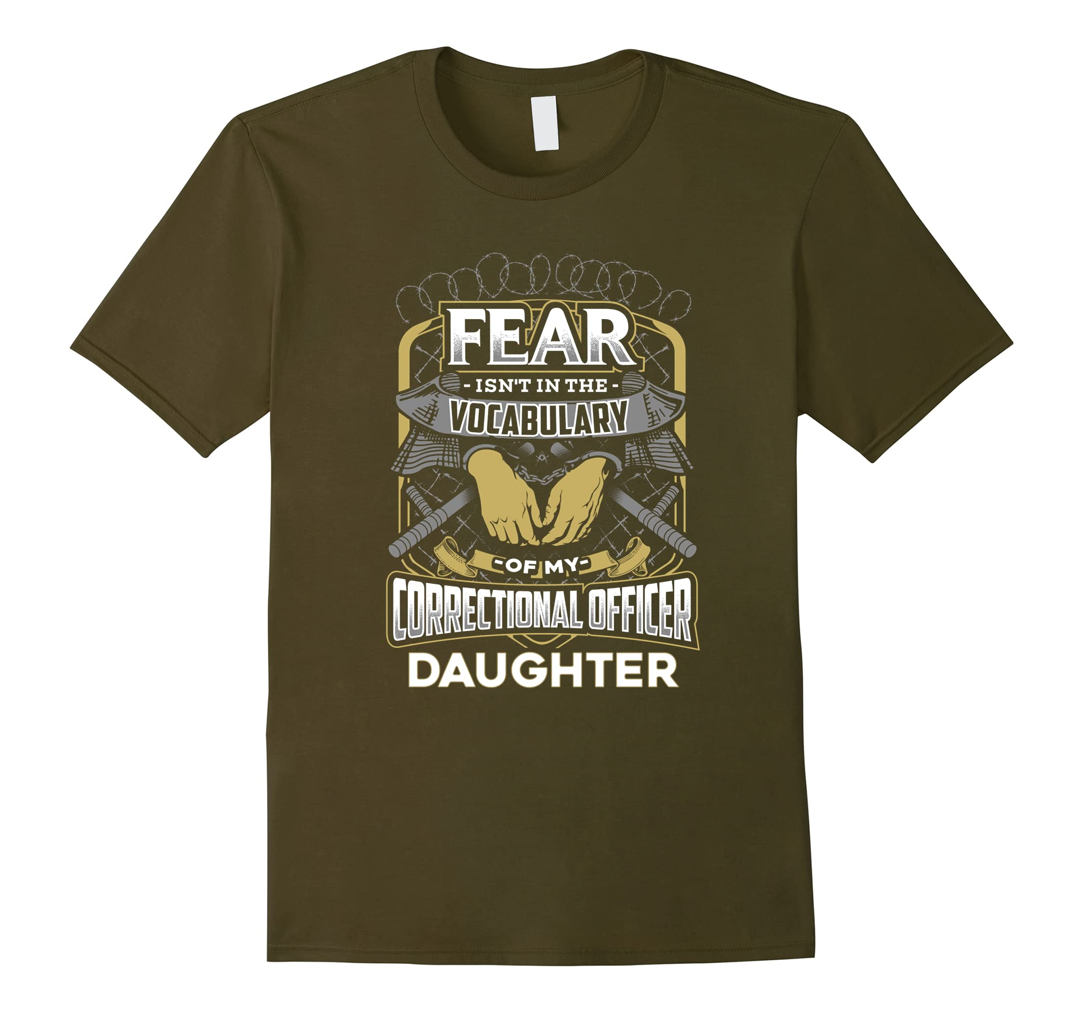 Fearless Correctional Officer Daughter T-Shirt-RT