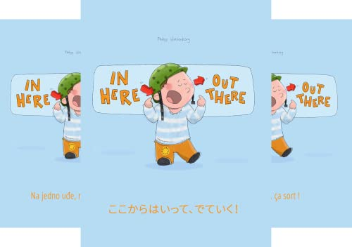 """Bilingual Picture Book Series: """"In Here, Out There!"""" Dual Language with English as Main Language (50 Book Series)"""