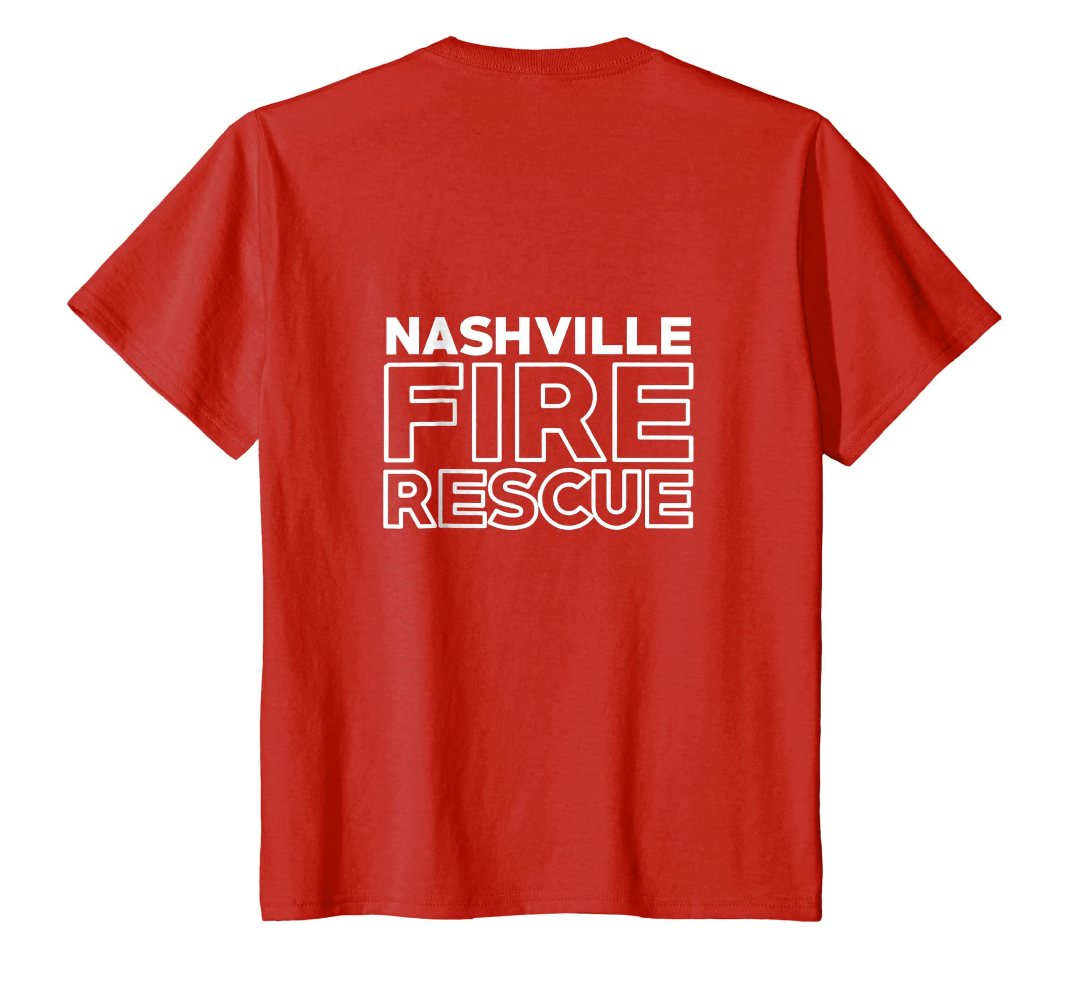 City of Nashville Fire Rescue Tennessee Firefighter T Shirt-Bawle