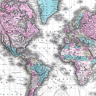 Vintage Map of The World Wrapping Paper - Premium 28