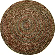 Sonya Indoor/Outdoor Round Reversible Braided Rug, 4-Feet, Brown Multicolor