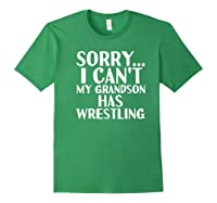 Grandpa Grandma My Grandson Has Wrestling Shirts Forest Green