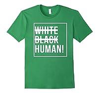 Black Human Shirts Forest Green