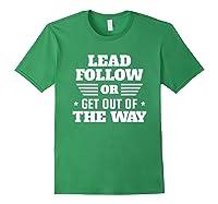 Lead Follow Military Veteran Shirts Forest Green