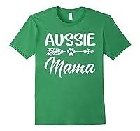 Aussie Mama Dog Mom Cute T-shirt Forest Green