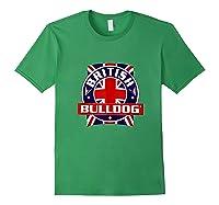 British Bulldog Flag Graphic Shirts Forest Green