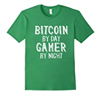Bitcoin Trader By Day Gamer By Night Crypto Btc Blockchain Shirts Forest Green
