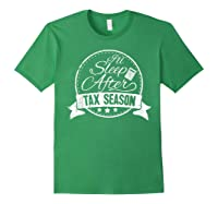 I\\\'ll Sleep After Tax Season Funny Cpa Accountant Gift T-shirt Forest Green