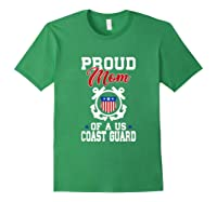 Proud Us Coast Guard Mom Shirts Forest Green