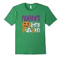 Pawpaw's Little Pumpkin Halloween Cute Pumpkin Gifts Shirts Forest Green