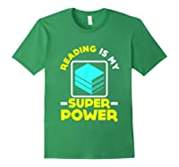 My Superpower Book Lovers Gift Shirts Forest Green
