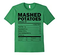 Mashed Potato Nutrition Funny Matching Christmas Costume Shirts Forest Green