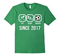 Eat Sleep Soccer Since 2017 Funny 2nd Birthday Gift Shirts Forest Green