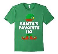 Santa's Favorite Ho Funny Family Christmas Gift T-shirt Forest Green