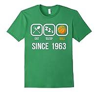 Eat Sleep Basketball Since 1963 56th Birthday Gift Shirts Forest Green