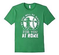 Baseball Mom Apparel Baseball Dad Merchandise Premium T-shirt Forest Green