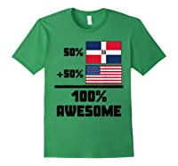 50 Dominican Republic 50 American 100 Awesome Funny Flag Shirts Forest Green