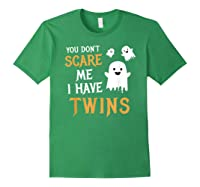 Funny Parents Of Twins Shirt Halloween Gift Forest Green