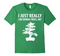 Like Bonsai Trees Anime Japanese Culture Zen Gift Shirts Forest Green