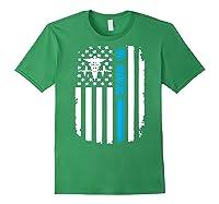 Va Nurse Distressed American Flag Short Sleeve Tshirt Forest Green