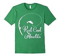 Reel Cool Abuelita Fishing Grandma Mother's Gift Shirts Forest Green