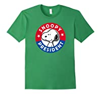 Peanuts Snoopy For President Shirts Forest Green