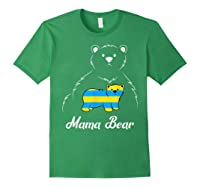 Down Syndrome Mom Awareness Trisomy 21 Gold Blue Ribbon Gift T-shirt Forest Green